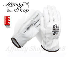 2x Force360 Certified Full Leather Rigger Gloves Cowhide Riggers Work Glove