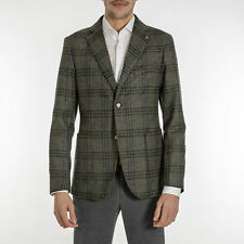 GIACCA UOMO EXIGO VERDE PURA LANA FANTASIA SLIM FIT MADE IN ITALY