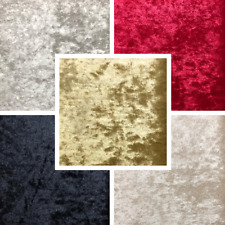 Crushed Velvet Fabric Upholstery 7 Colours High Quality Craft Cushion Curtain