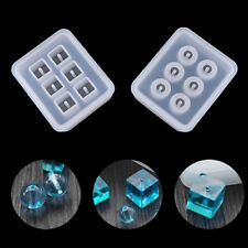 12mm Sphere Cube DIY Bracelet Pendant Mold Jewelry Making Resin Beads Mould