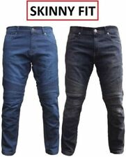 Mens Motorcycle Motorbike Denim Jeans with Protective Lining