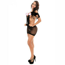 Womens Sexy/Sissy Lingerie Lace Dress Babydoll Halter Teddy Intimate Dress INT