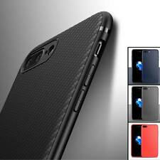 Luxury Carbon Fiber Silicone Fibre Case Cover For iPhone XS Max XR X 8 7 6 Plus