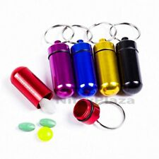 Colorful Pill Box Bottle Holder Mini Waterproof Aluminum Container Keychain Case