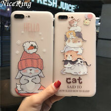 Cute Funny Bunny Rabbit Kitten Cat Silicone Case Cover For iPhone X 8 7 6 Plus