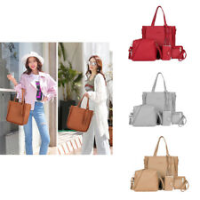4pcs/set  Ladies Leather Handbag Shoulder Tote Purse Satchel Messenger Bag Women