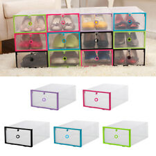 Colorful Shoe Storage Box Drawer Case Organizer Plastic Home Foldable Clear Hot