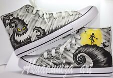 The Nightmare Before Christmas Hand painted Shoes / Jack, Zero and Boogie Man