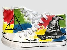 Harry potter inspired hand painted shoes / Hogwarts / The Sorting Hat design
