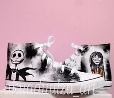 Nightmare Before Christmas Hand painted Unisex Shoes / Jack and Sally