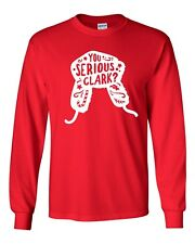 You Serious Clark  Griswold Family Christmas Hat LONG SLEEVE  Men's T- Shirt 113