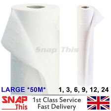 """Paper  20"""" 40M WHITE Hygiene Beauty Salon Massage Couch Table Bed Cover ROLL"""