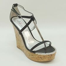 e136e4ef3e0f Shi by Journeys Black T-Strap Thong Wedge Sandals ROSS LYN Women s Shoes 7