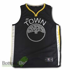 Fanatics Golden State Warriors The Town Fast Break Youth Replica Jersey Charcoal