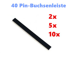 2/5/10x Tira 40 Pines Header Macho 2,54mm Row para Arduino Raspberry Electronica