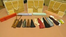 NEW MICHAEL KORS KEY CHARMS LARGE LEATHER TASSEL KEY FOB CHAIN Many Colors