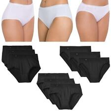 Sloggi 3 Pack Feel Pure Briefs Maxi or Midi or TaiBlack or White Womens