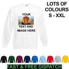 Personalised Jumper Sweatshirt Image Picture Text Printed Christmas Any Occasion