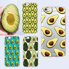 Cute Avocado Cartoon Food Pattern iPhone XS Max XR X 8 7 6 Plus SE 5 Soft Case