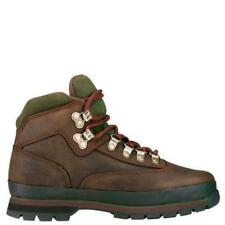 TIMBERLAND Kid's Juniors EURO HIKER LEATHER BOOTS - NEW - BROWN