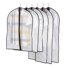 5X Hanging Clear Dust-proof Cloth Cover Suit Dress Garment Bag Storage Protector