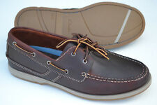 Clarks Mens Boat Deck Shoes FULMEN ROW Dark Brown Leather UK 9.5