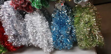 Christmas Tree 2m Chunky Tinsel Decoration,Silver,Gold,Blue,Green,Red Garland