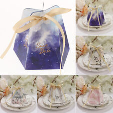 10pcs Romantic Wedding Paper Candy Boxes Gifts Boxes Wedding Party Favor