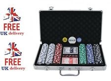 PROFESSIONAL 300/500 PIECE TEXAS HOLD'EM POKER CASINO GAME CHIPS SET IN CASE