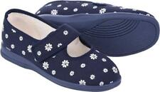 Cosyfeet Extra Roomy Margaret Womens Shoes Marine Fleur 6E Fitting UK Sizes