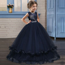 Abito bambina ragazza 6-14 anni cerimonia matrimonio feste girl party dress