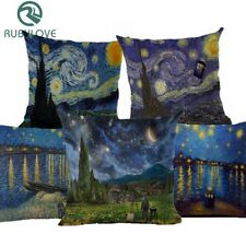 Throw Pillow Case Sofa Cushion Cover Van Gogh Style Painting Style Cotton Linen