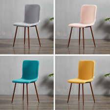 Marco Fabric Dining Chair Retro Vintage Style Lounge Dining Room Eiffel Wood