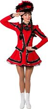 Ladies Deluxe Red Carnival Dance Troupe Show Theatre Fancy Dress Costume Outfit