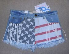 Women's Cosmic Jeans Stars & Stripes Denim Shorts UK 6 to UK 12 - New With Tags