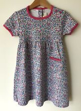 Ex JoJo Maman Bebe blue pink floral dress
