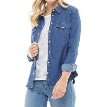 ece3640334 Levi s Womens Tailored Classic Western Denim Shirt Vintage Med Fall 2