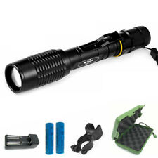20000LM LED Tactical Police Flashlight 18650 Aluminum Torch Zoomable Lamp Light