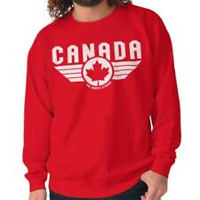 North Strong Canada Aviator Badge Pilot Movie Souvenir Pullover Sweatshirt