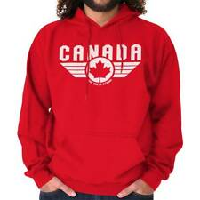 North Strong Canada Aviator Badge Pilot Movie Souvenir Hooded Sweatshirt
