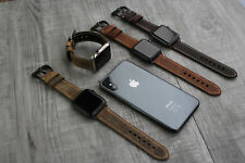 For Apple Watch Series 4 3 38/40/42/44mm Rustic Leather Wrist Strap iwatch Band