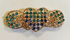 Heart with Wing Inspired Design Hair Barrette crafted with Rhinestones