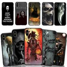 Cool Skull Black TPU Phone Case Cover for iPhone X 6/7/8 &Samsung S8/9 Halloween