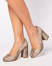 91dac683975a Brand New Simply Be Ladies SOLE DIVA Snake Print Court Shoes Various Size  Choice