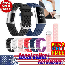 US For Fitbit Charge 3 Replacement Silicone Bracelet Wrist Watch Band Strap S/L