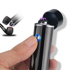 Dual Arc Electric USB Lighter Rechargeable Plasma Windproof Flameless Lighter US