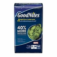 GoodNites Bedtime Bedwetting Underwear for Boys, S-M, 14 Count