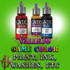 Vallejo Game Color Acrylic Paint Miniatures 128 Different Colors, Washes Ink etc