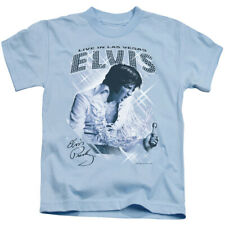 Elvis Presley Boys T-Shirt Live in Las Vegas Carolina Blue Tee