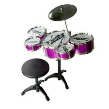 Kids Musical Drum Instrument Toys 5 Drums Simulation Jazz Drum Kit with Drumstic